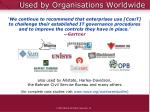 used by organisations worldwide