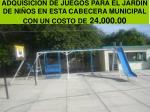 adquisici n de juegos para el jardin de ni os en esta cabecera municipal con un costo de 24 000 00