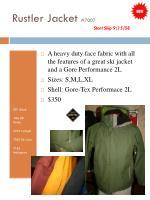 rustler jacket 7007 start ship 9 15 08
