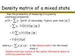 density matrix of a mixed state