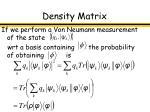 density matrix25