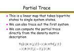 partial trace39