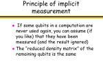 principle of implicit measurement