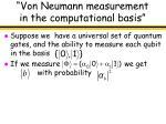 von neumann measurement in the computational basis