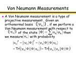 von neumann measurements