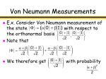von neumann measurements10