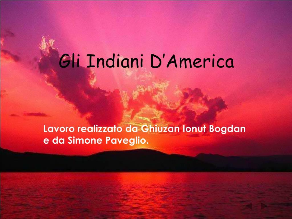 gli indiani d america l.