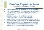 dise os experimentales fuentes de invalidaci n externa