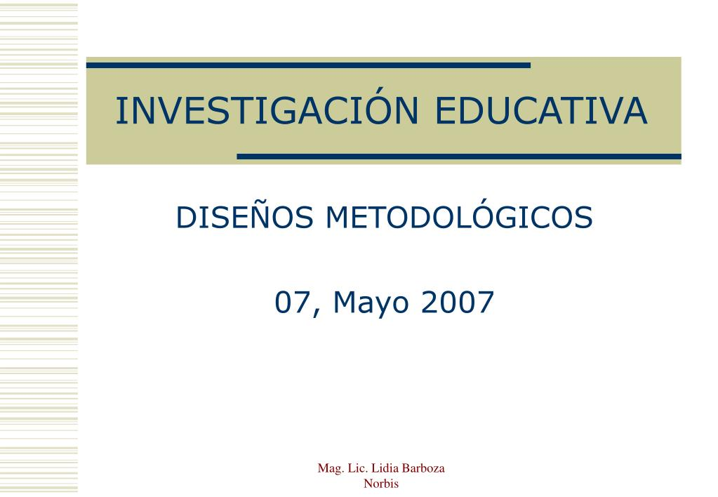 investigaci n educativa l.