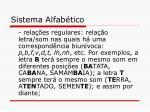sistema alfab tico