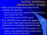 austal monohull crew supply vessel