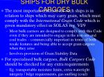ships for dry bulk cargoes