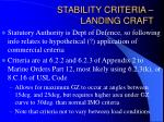 stability criteria landing craft