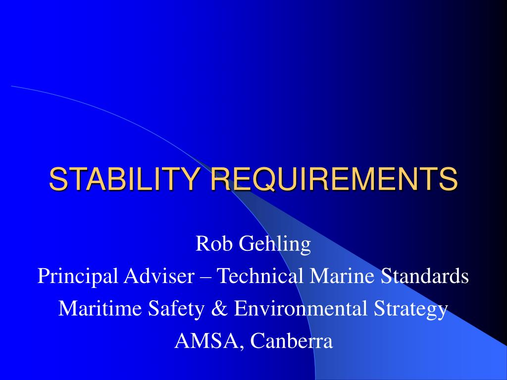 stability requirements l.