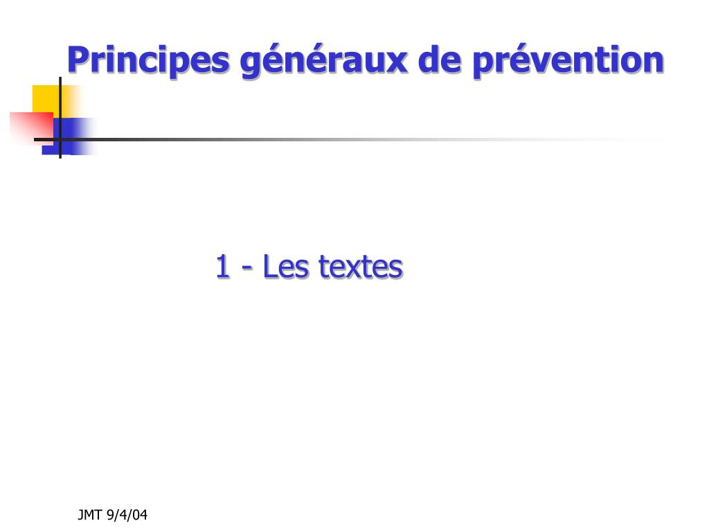 principes g n raux de pr vention l.