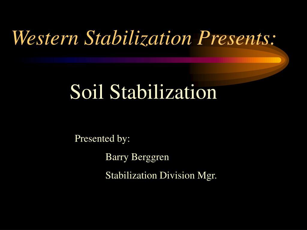western stabilization presents l.