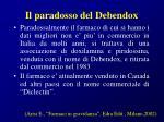 il paradosso del debendox