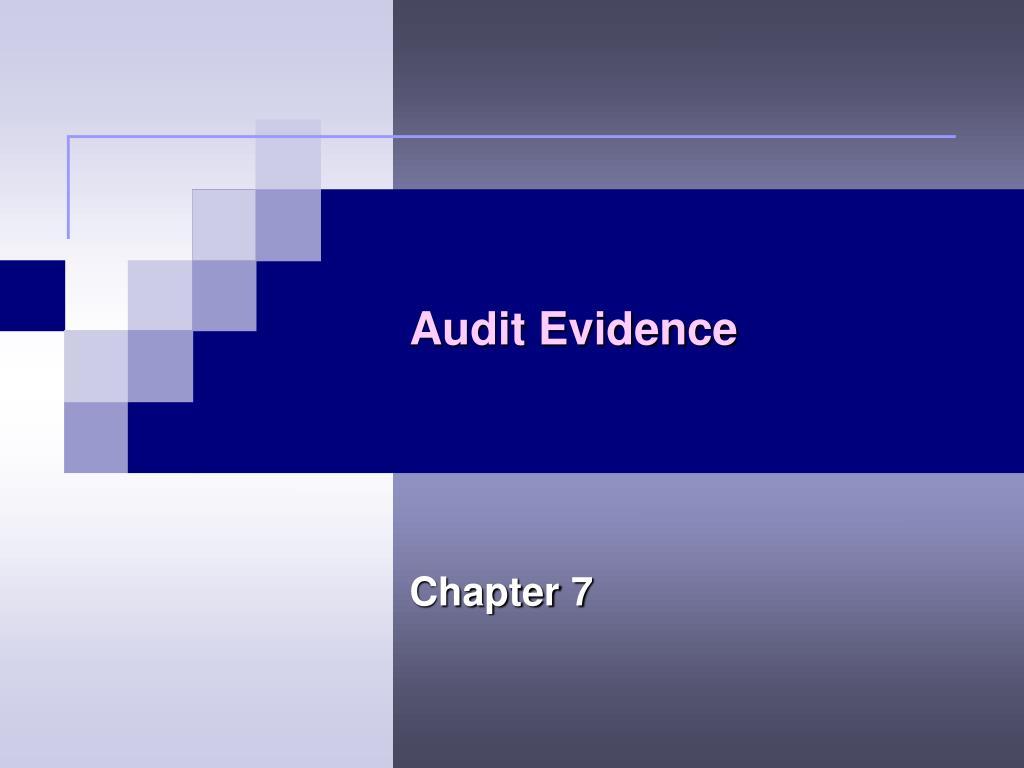 audit evidence l.