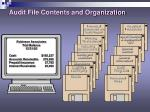 audit file contents and organization