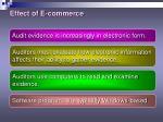 effect of e commerce
