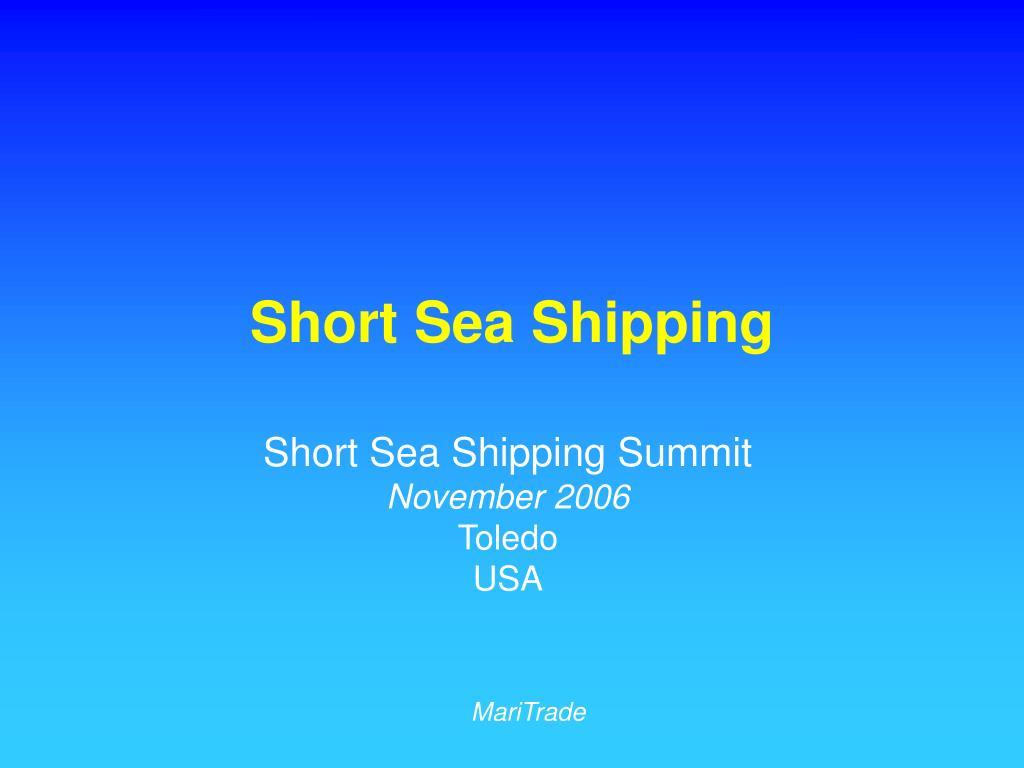 short sea shipping l.