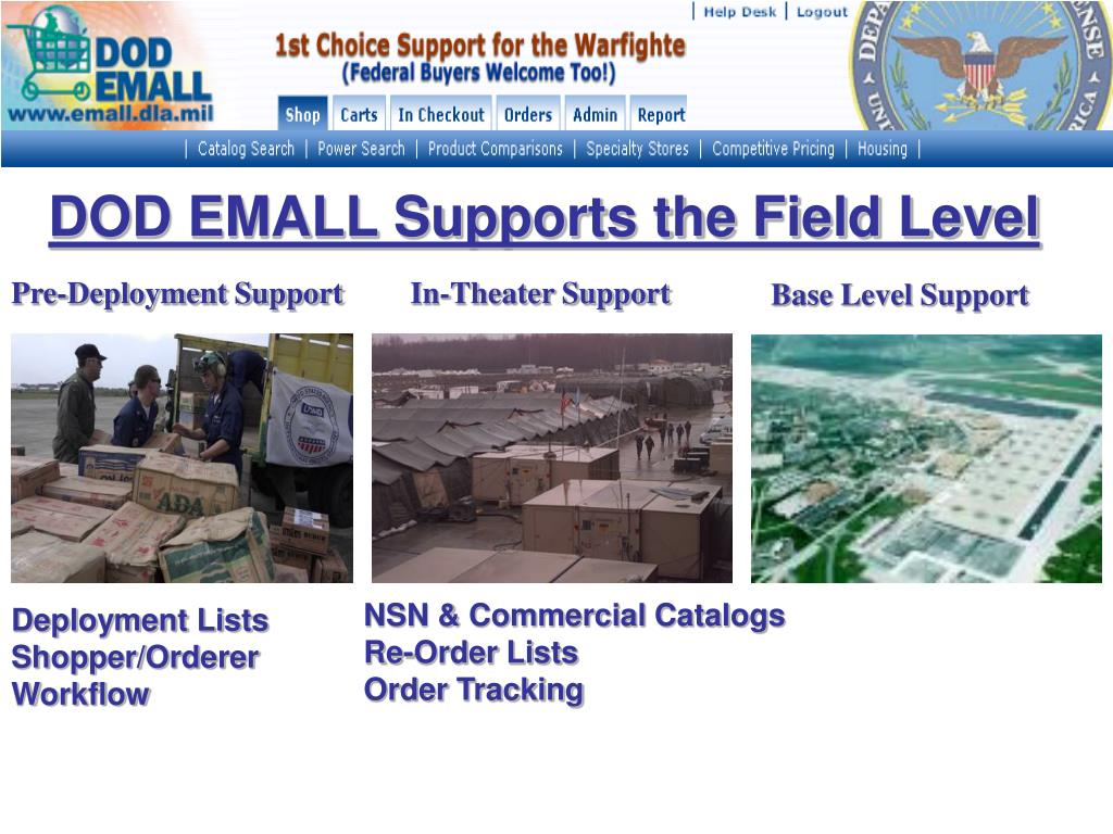 DOD EMALL Supports the Field Level