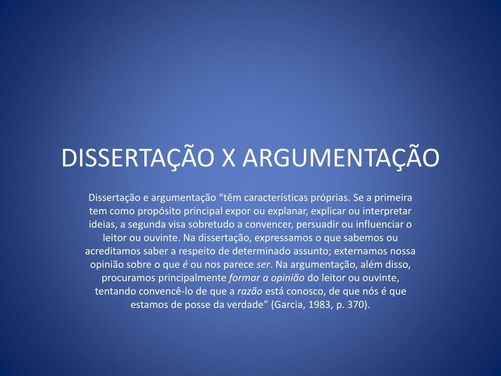 disserta o x argumenta o l.