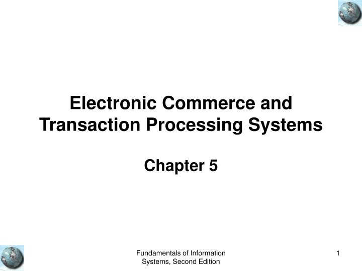 electronic commerce and transaction processing systems n.