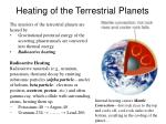 heating of the terrestrial planets