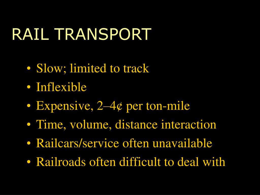 RAIL TRANSPORT