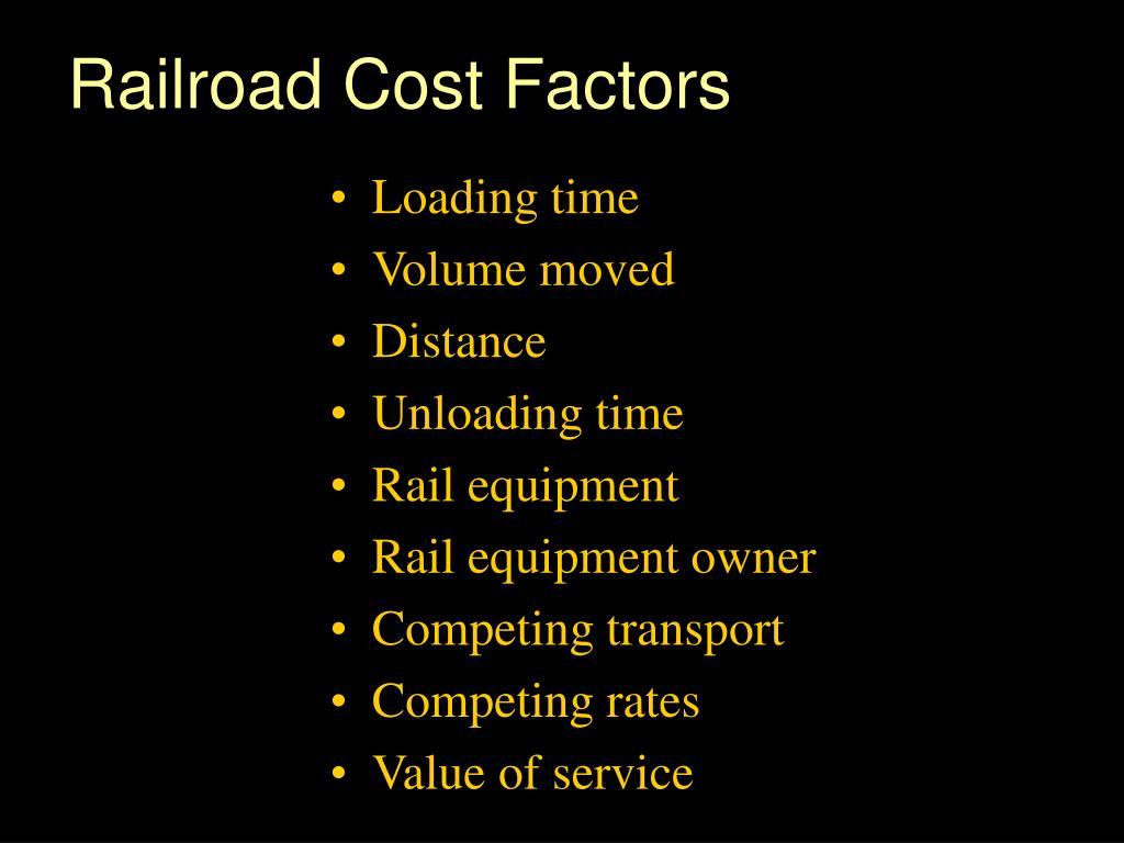 Railroad Cost Factors
