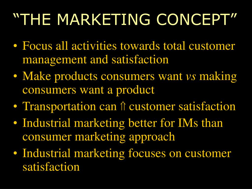 """""""THE MARKETING CONCEPT"""""""