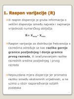 1 raspon varijacije r