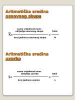 aritmeti ka sredina osnovnog skupa