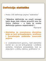 definicija statistike