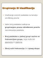 grupiranje ili klasifikacija