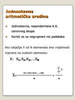 jednostavna aritmeti ka sredina