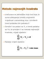 metoda najmanjih kvadrata