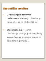 statisti ka analiza