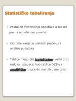 statisti ko tabeliranje