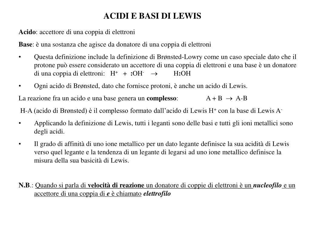 acidi e basi di lewis l.