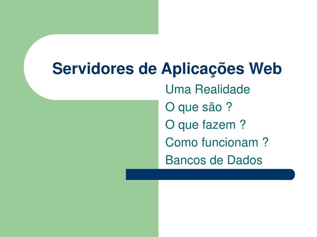 servidores de aplica es web l.