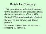 british tar company