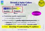 towards a safety culture ism as a tool
