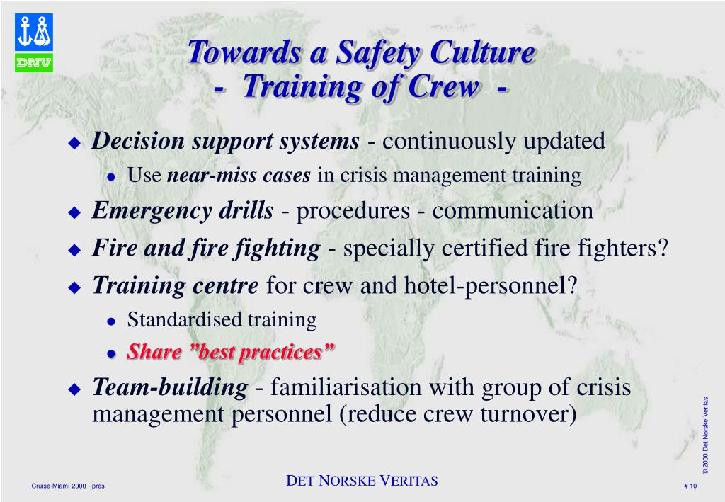 Towards a Safety Culture