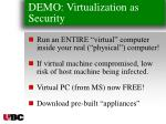 demo virtualization as security