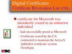 digital certificates certificate revocation list crl