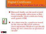 digital certificates certificate revocation list crl123