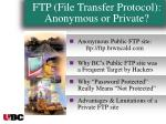 ftp file transfer protocol anonymous or private