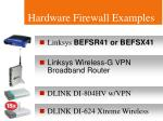 hardware firewall examples